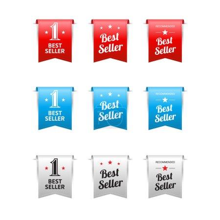 Ilustración de Mejor vendedor etiquetas - Imagen libre de derechos