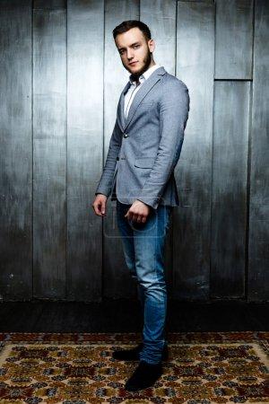 Man wearing elegant suit