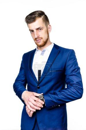 Handsome man in suit,