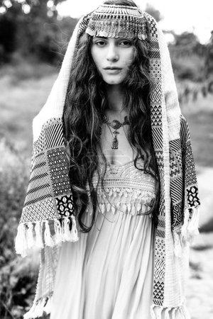 Girl in folk Crimean Tatar clothes