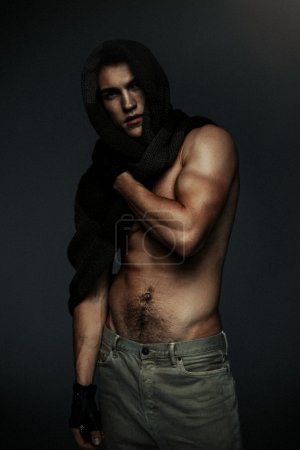 Fashion topless man