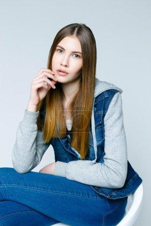 professional female model.
