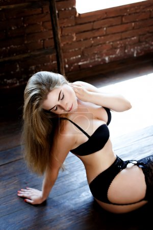 Sexy young woman wearing lingerie