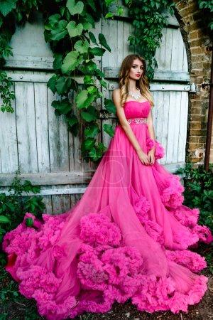 Beautiful woman in gorgeous dress