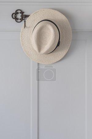 straw hat hanging