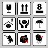 Care icon packaging symbols