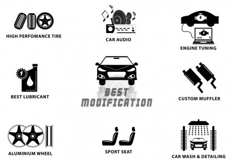 CAR MODIFICATION signs