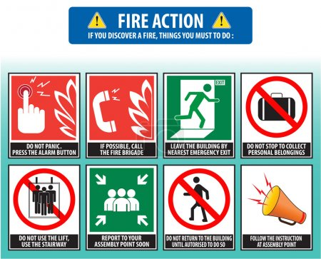 Fire action emergency procedure