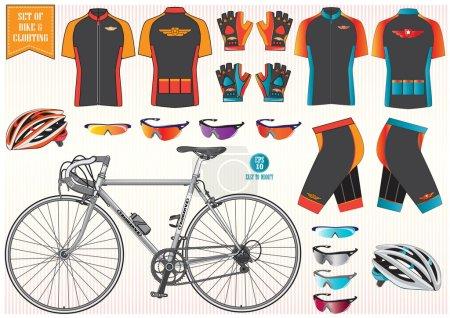 Bike or Bicycle clothing and equipment (bike, helm...