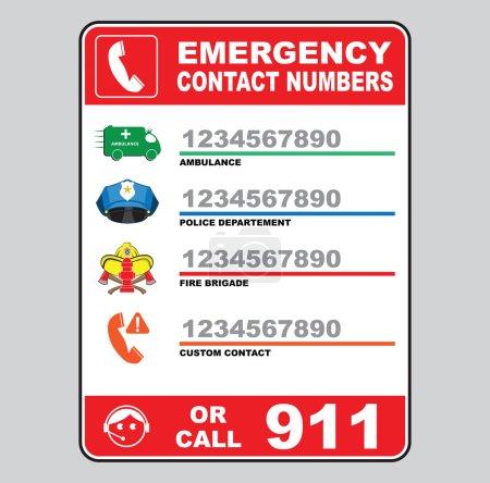 Illustration pour Indicatif d'appel d'urgence, illustration vectorielle - image libre de droit