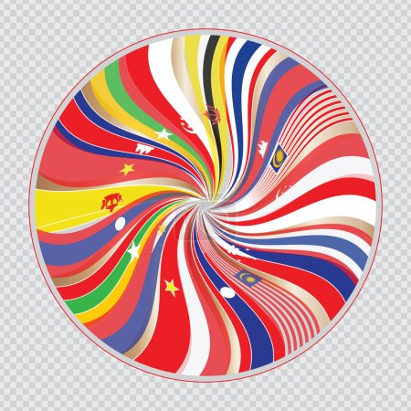 South east asia flag, or AEC or ASEAN illustration...