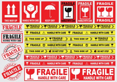 Packaging or Fragile Stickers
