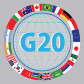 G20 countries flags