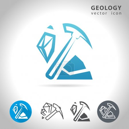 geology blue icon