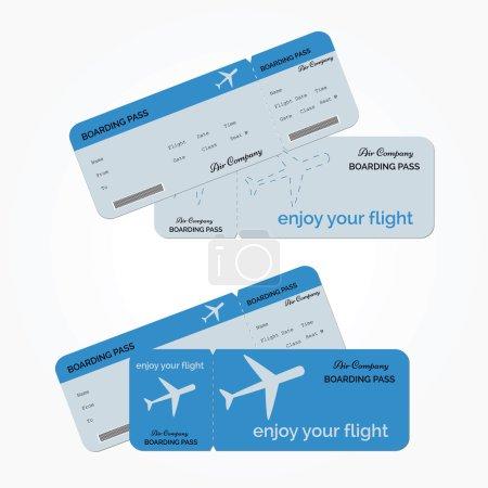 Variant of air ticket. Vector illustration
