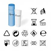 Collection of 14 Symbols Depicted on the Packaging of Cosmetics