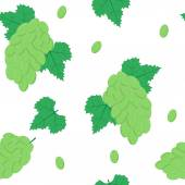 Seamless Pattern with White Grapes on White Background Vector Illustration EPS8