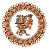Aztécký vzor kakaovníku, Mayové, kakaových bobů a dekorativní bo