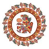 Aztécký kruh vzor kakaovníku, Mayové, kakaových bobů a decora