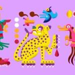 Vector illustration flat style aztec cacao bean, l...