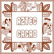 Vector illustration contour aztec maya pattern, ca...