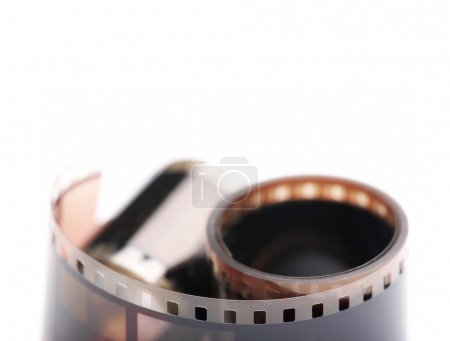 Photo for 35 mm film rolls isolated on white background. - Royalty Free Image