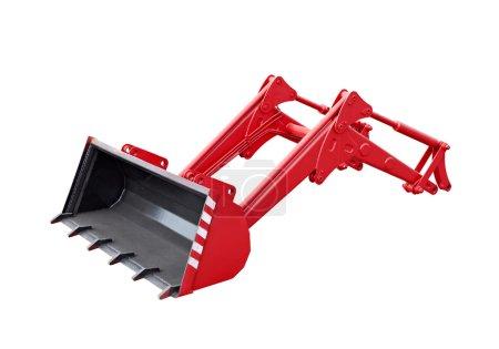 Big red grab of excavator