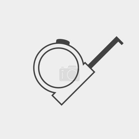 Tape measure monochrome icon