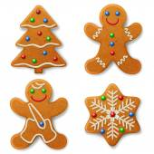 Christmas gingerbread decorated colored icing