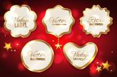 Set of vector elements for Christmas design