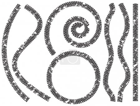 Collection of tire tracks motorcycles