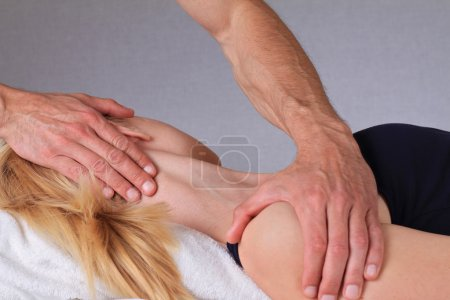 Chiropractic, osteopathy, dorsal manipulation. Therapist doing healing treatment otreatment on woman's neck . Alternative medicine, pain relief concept
