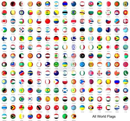 Photo pour Drapeaux de cercle classés par ordre alphabétique du monde - image libre de droit