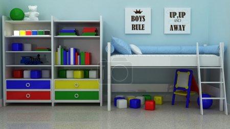 Inspirational quotation Boys rule. Boy Nursery print. Children room decoration