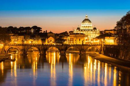 Photo pour La basilique papale de saint pierre au Vatican (basilique papale di san pietro in vaticano) - image libre de droit