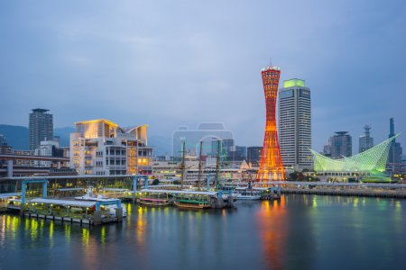 Skyline at Port of Kobe Tower in Japan