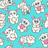 Vector bunnies illustration