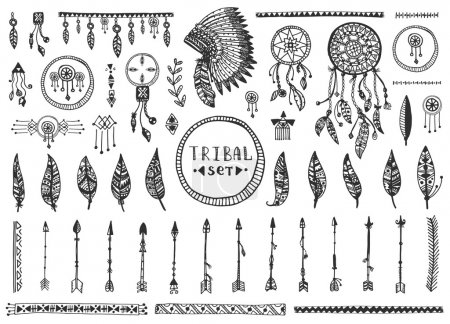 Big tribal vector elements collection
