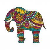 Dekorační slon ilustrace