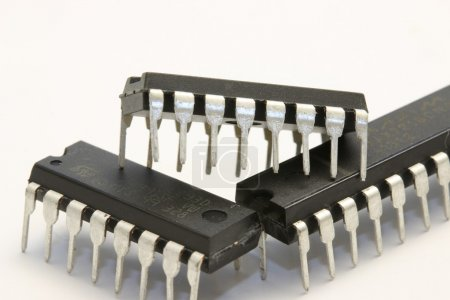 Photo for Arduino boards: the simplest and the greatest, and electronic components that you will use when using Arduino boards - Royalty Free Image