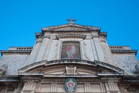Detail of the cathedral city of Rabat, Malta.