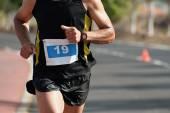 Marathon man running