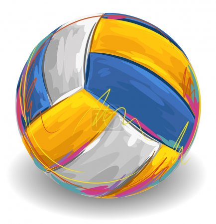 Volleyball ball drawn in sketch style...