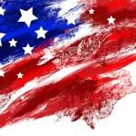 Independence Day of America grunge banner design i...