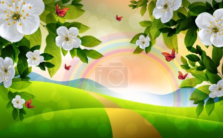 Schöner Frühlingshintergrund