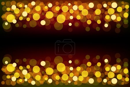 Illustration for Beautiful golden defocused Background with bokeh effect - Royalty Free Image