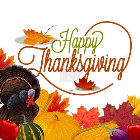 Illustration for Thanksgiving card ornament background illustration - Royalty Free Image