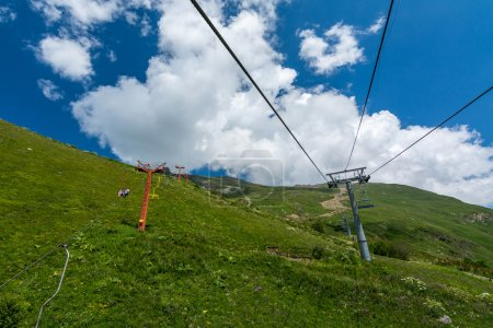 Chairlift to the mountain Moussa-Achitara, Dombay.