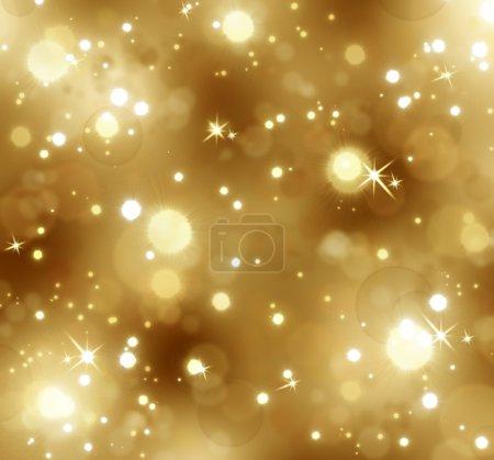 Christmas golden bokeh background.