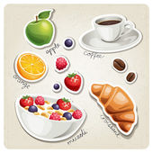 Stylized food icons